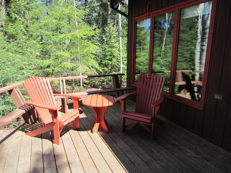 Restored Deck Chairs and Side Table